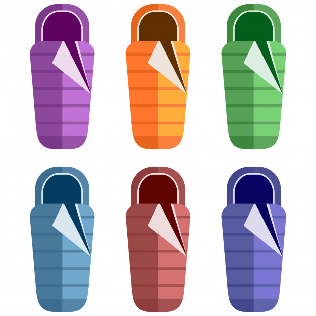 626x626 Colorful Sleeping Bag Flat Element Icon Game Asset Vector