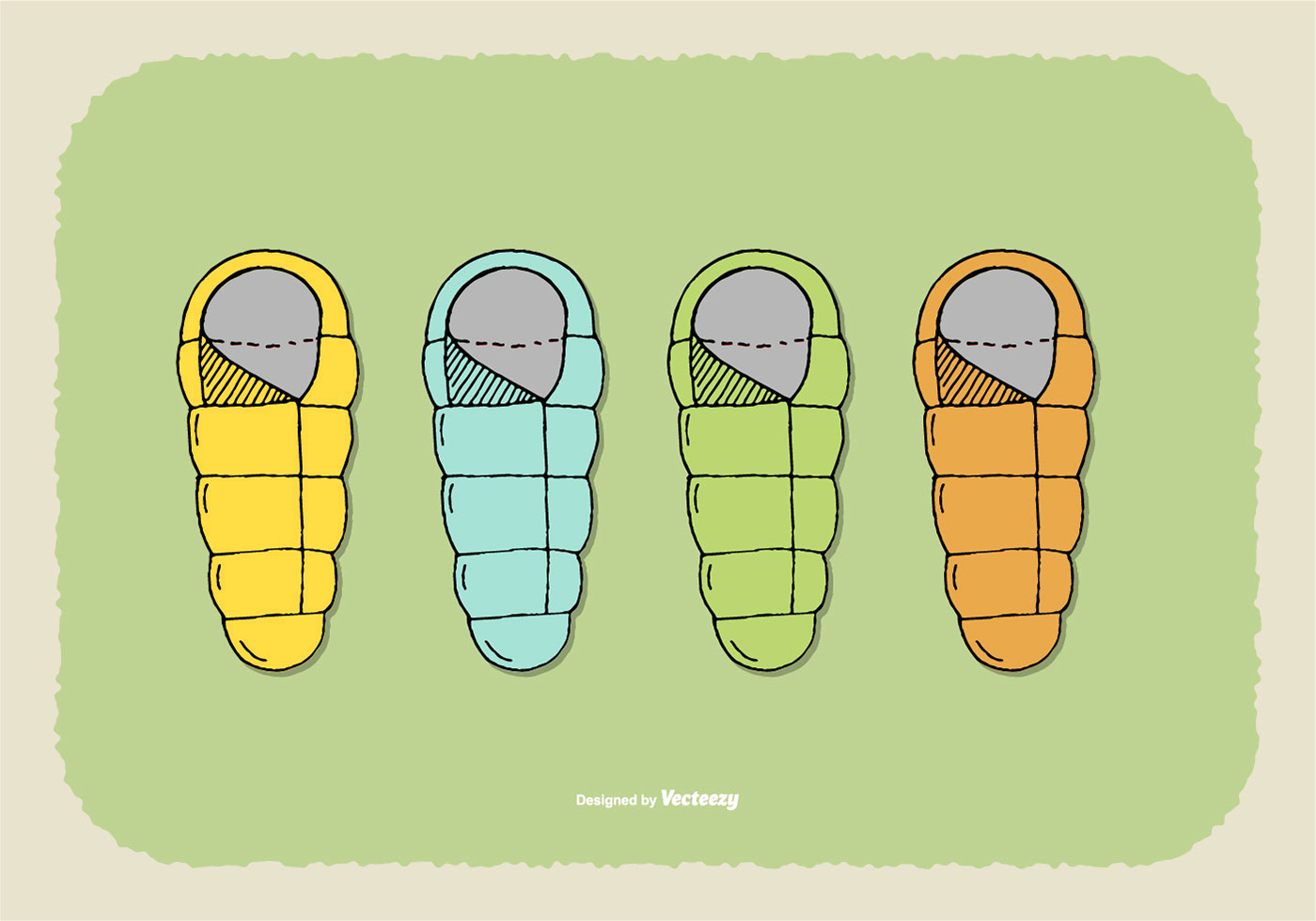 1400x980 Sleeping Bag Free Vector Art