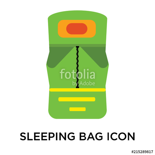 500x500 Sleeping Bag Icon Vector Sign And Symbol Isolated On White