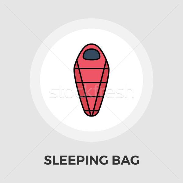 600x600 Sleeping Bag Vector Flat Icon Vector Illustration Oleksii