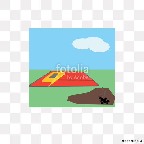 500x500 Sleeping Bag Vector Icon Isolated On Transparent Background