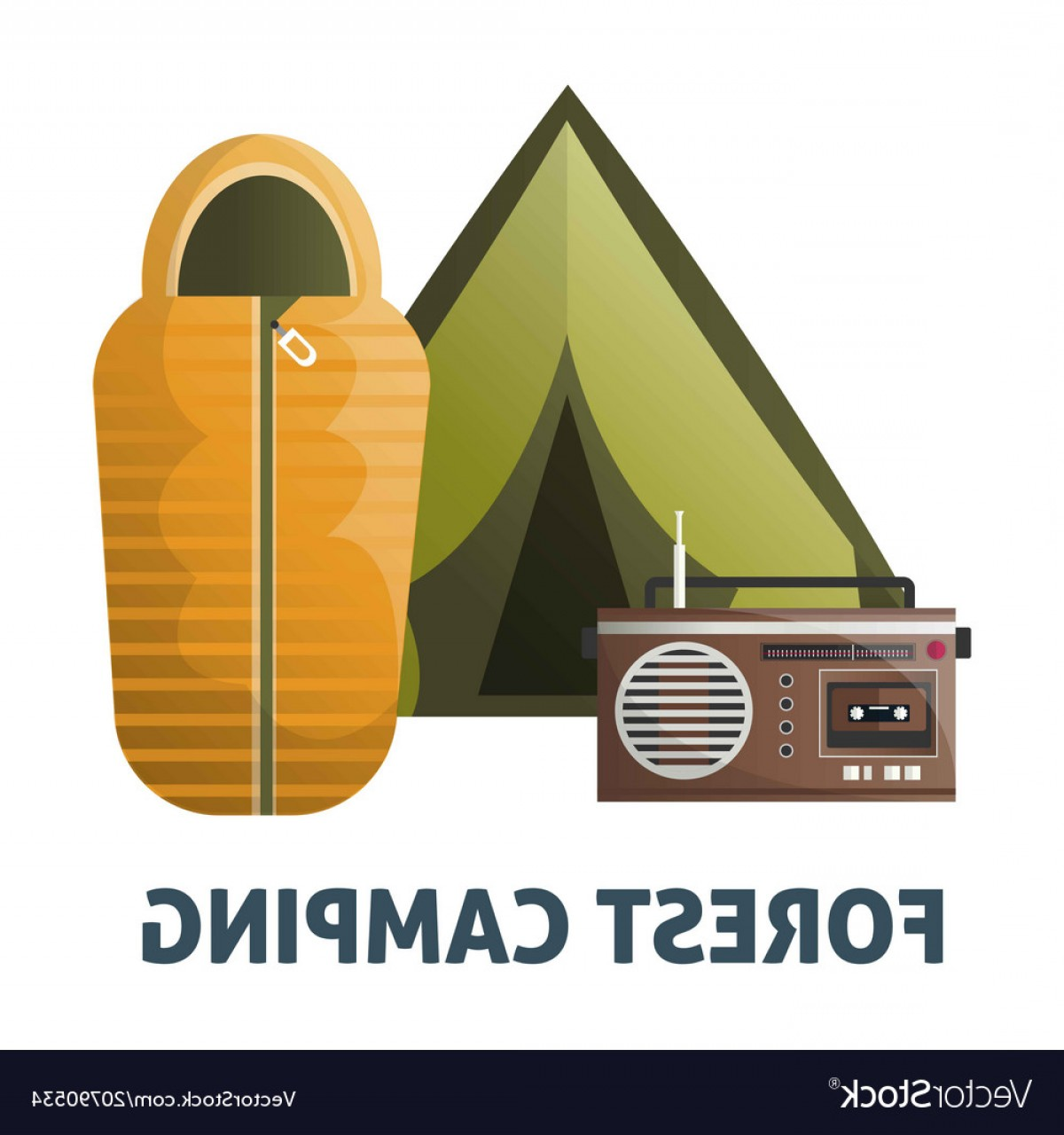 1200x1280 Camping Camp Tent And Sleeping Bag Vector Arenawp