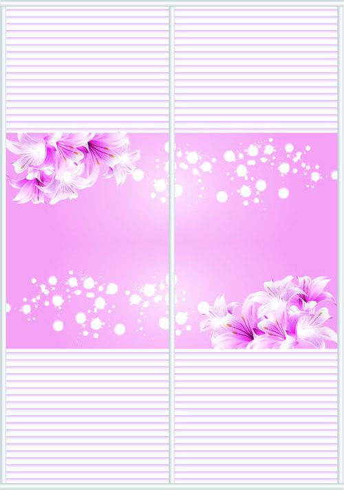 500x713 Sliding Door Pattern Decoration Material Vector 04 Free Download