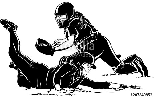 500x320 Softball Player Sliding Home Under Tag Stock Image And Royalty