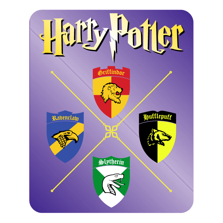 745x745 Griffindor Ravenclaw Slytherin Hufflepuff Free Vector 4vector