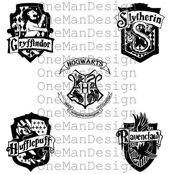 570x569 Harry Potter Emblem Set Of 5 Hogwarts Houses