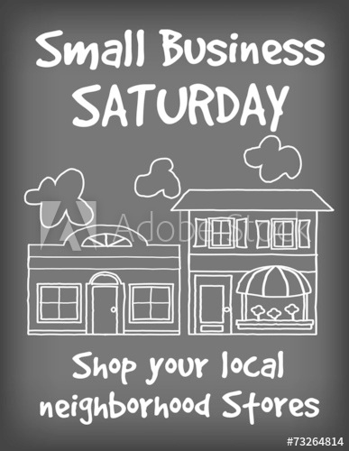 387x500 Small Business Saturday Chalk Board Sign, Support Local Stores