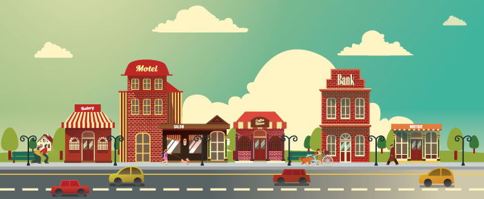700x288 Small Business Building Vector Set By Caffeinesoup