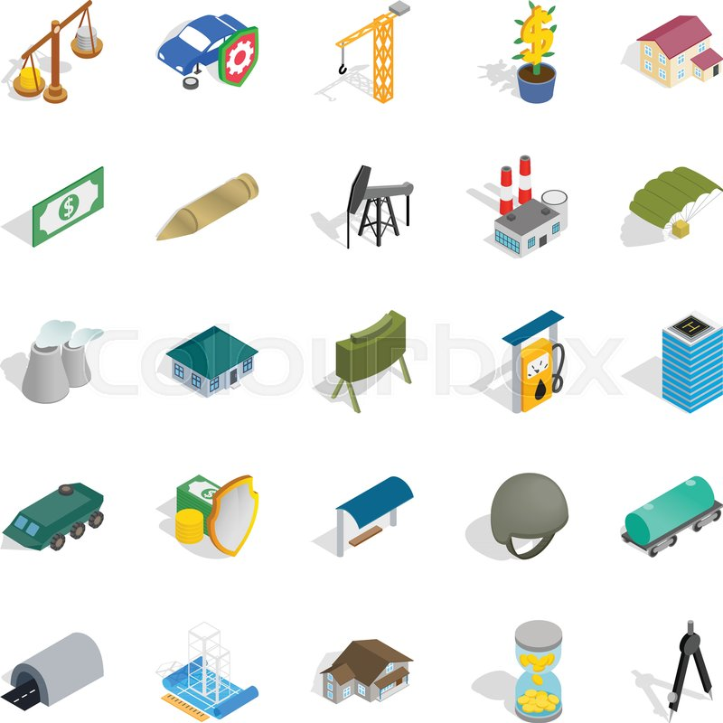 800x800 Small Business Icons Set. Isometric Set Of 25 Small Business