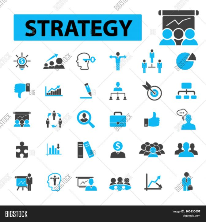 672x724 Strategy Icons Vector Photo Free Trial Bigstock Small Business