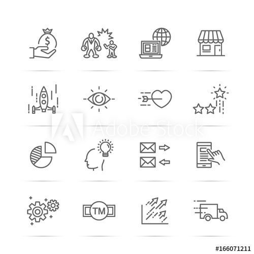 500x500 Small Business Vector Line Icons