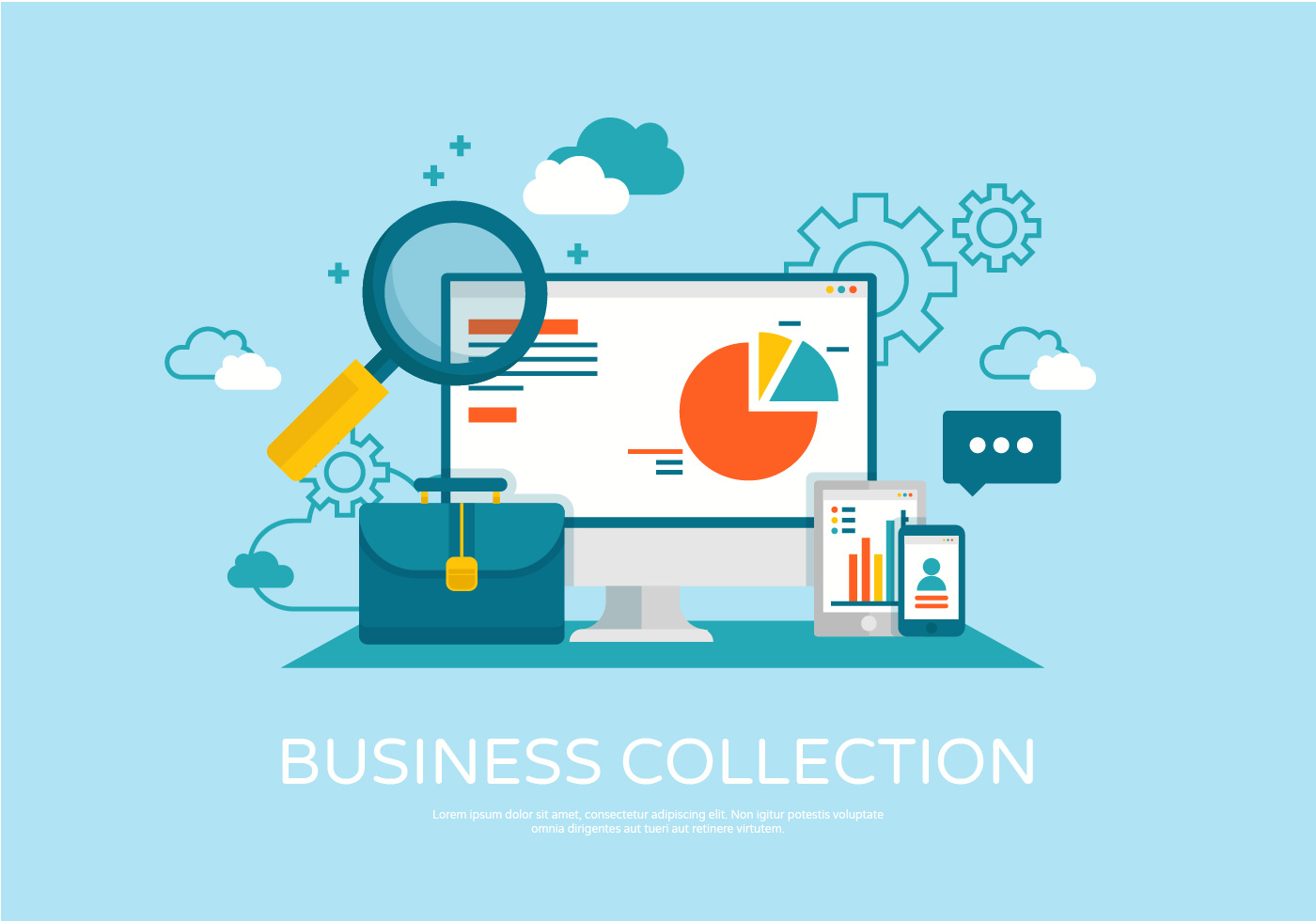 1400x980 Business Vector Illustration