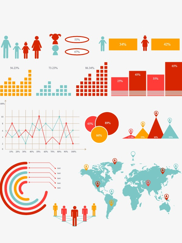 600x800 Cartoon Small Fresh Business Data Analysis Element, Cartoon Vector