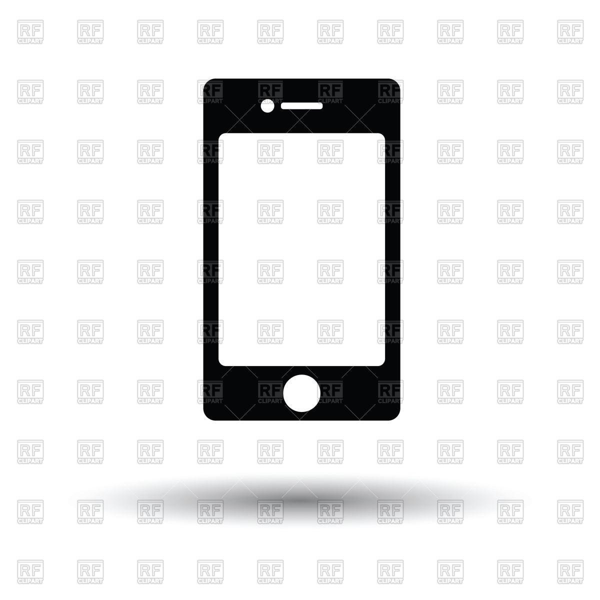 1200x1200 Smartphone Icon Vector Image Vector Artwork Of Signs, Symbols