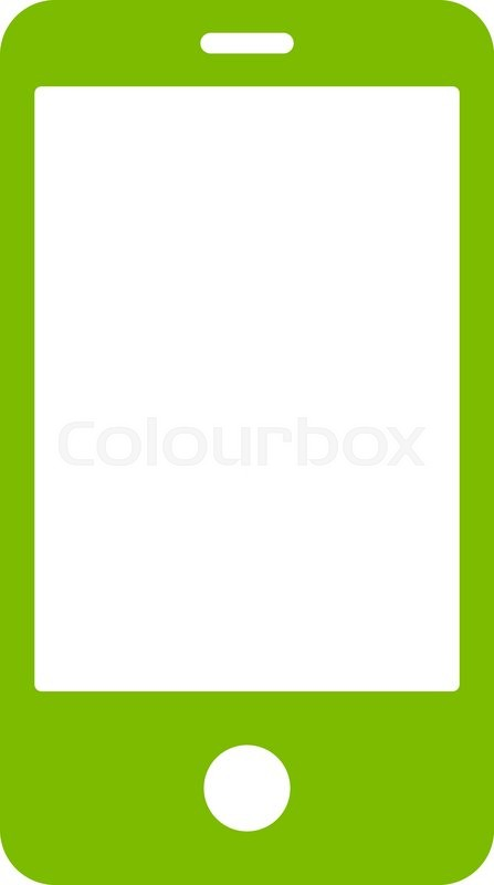447x800 Smartphone Icon From Primitive Set. This Isolated Flat Symbol Is