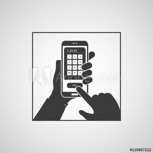 500x500 Smartphone Icon. Smartphone Icon Vector. Smartphone Icon Picture