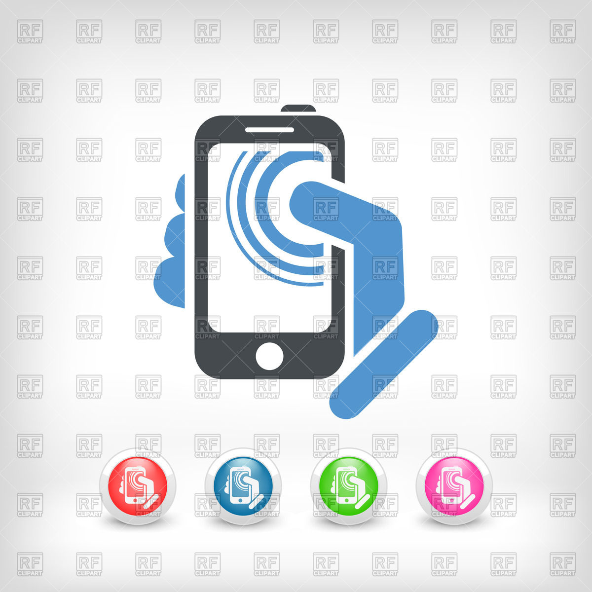 1200x1200 Smartphone In Hand Icon Vector Image Vector Artwork Of Icons And