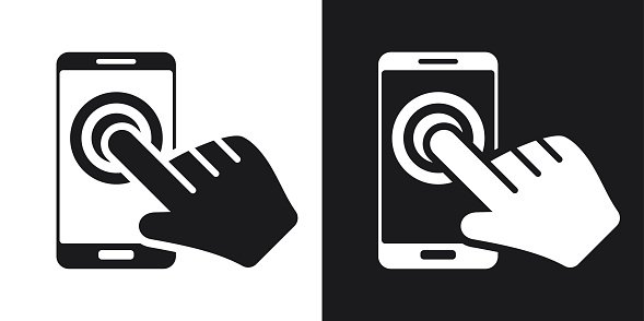 589x294 Touch Screen Smartphone Icon, Premium Clipart