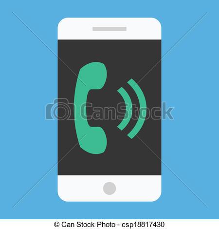 450x470 Vector Ringing Smartphone Icon.