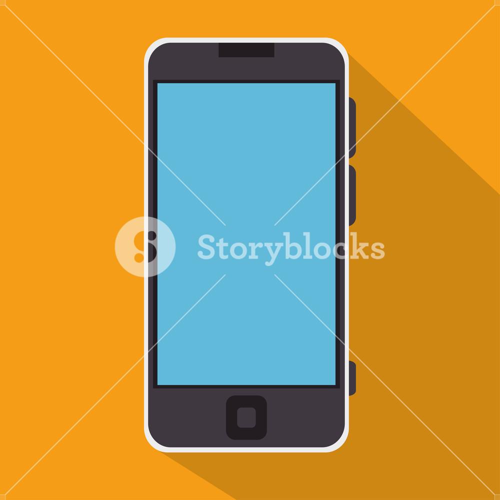1000x1000 Smartphone Blue Screen Education Online Icon Vector Illustration