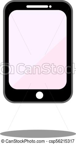 249x470 Mobile Phone Icon Vector. Smartphone Display, Call Center