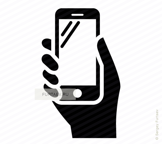 620x553 Phone In Hand Vector Icon