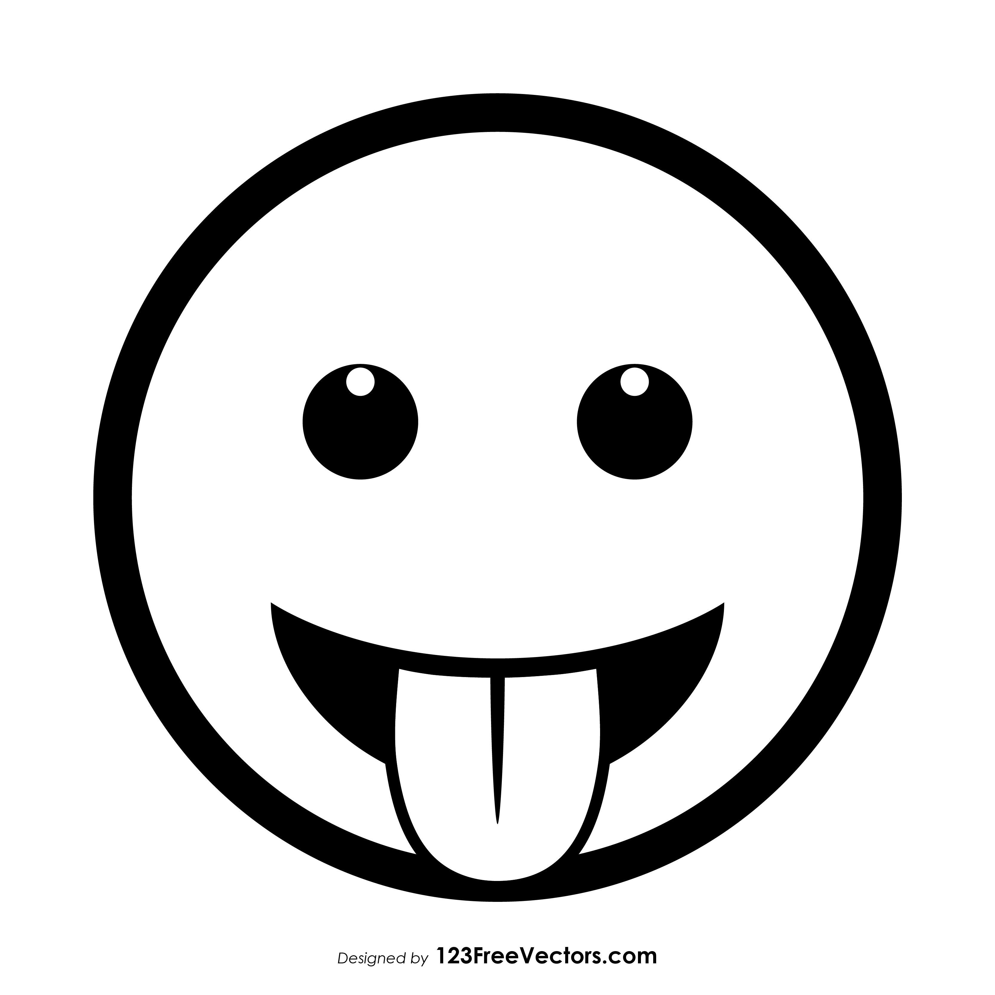 3333x3333 Face With Tongue Emoji Vector Free 123freevectors