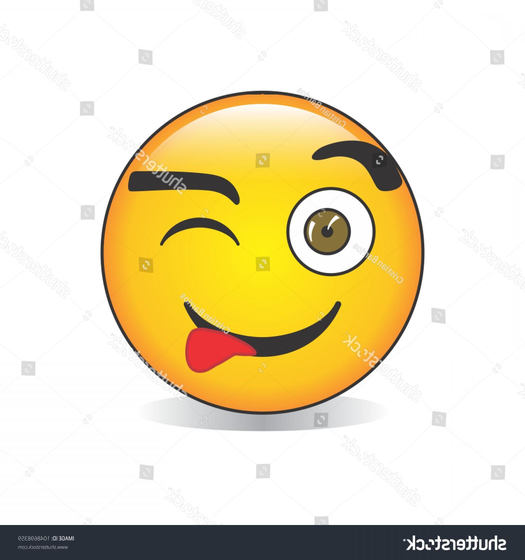 1800x1920 Winking Face Tongue Emoji Vector Lazttweet