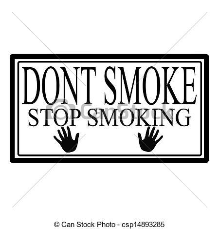 450x470 Dont Smoke, Stop Smoking Label, Vector Illustration.
