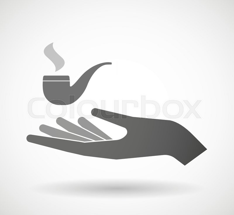 800x737 Illustration Of An Isolated Vector Hand Giving A Smoking Pipe
