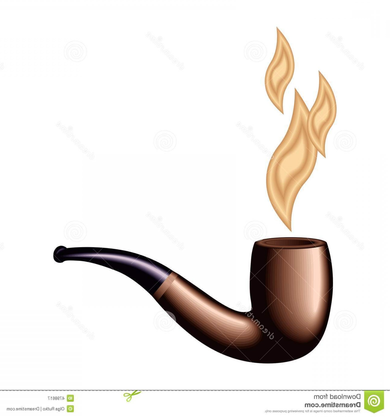 1560x1668 Royalty Free Stock Photography Retro Tobacco Pipe Vector Image