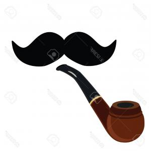 300x300 Bearded Sailor Smoking Pipe Vector Shopatcloth