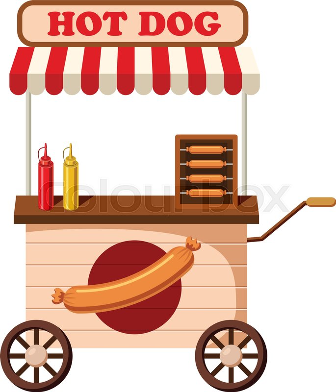 685x800 Hot Dog Mobile Snack Icon. Cartoon Illustration Of Hot Dog Mobile