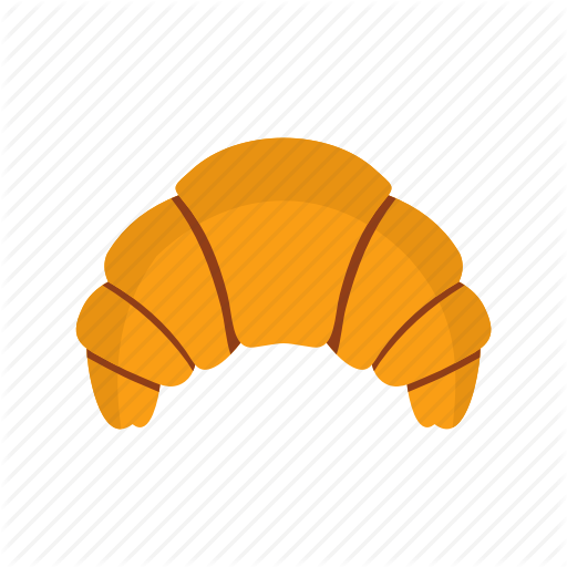 512x512 Bakery, Breakfast, Brown, Croissant, Food, Snack, Vector Bread Icon