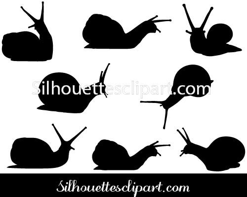 500x400 Snail Vector Graphics Download Here Silhouettes Vector