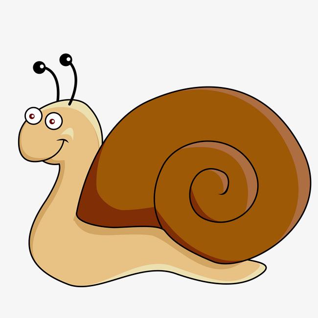 650x651 Cartoon Snail Vector, Hand Painted Snail, Cartoon Snail, Cartoon