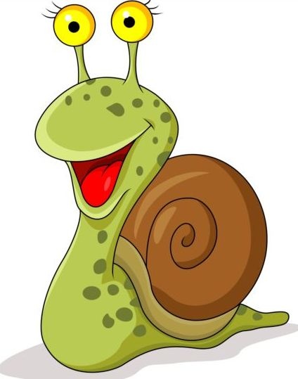 424x539 Lovely Cartoon Snails Vector 04 Free Download