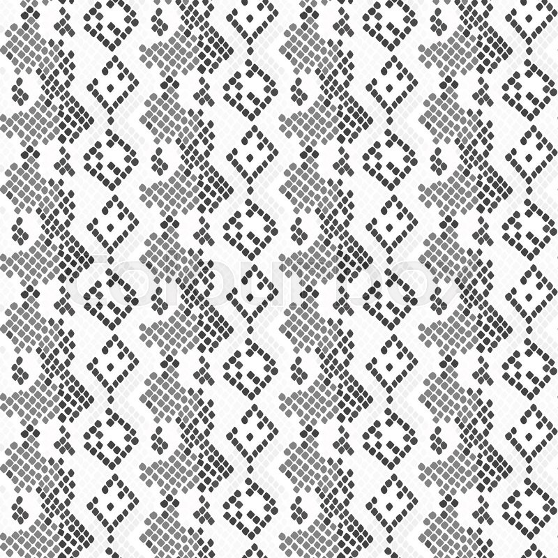 800x800 Serpent Skin Seamless Light Vector Texture. Gray Tone Colors Snake