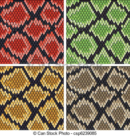 450x468 Snake Skin. Set Of Snake Skin Patterns For Design Or Ornate.