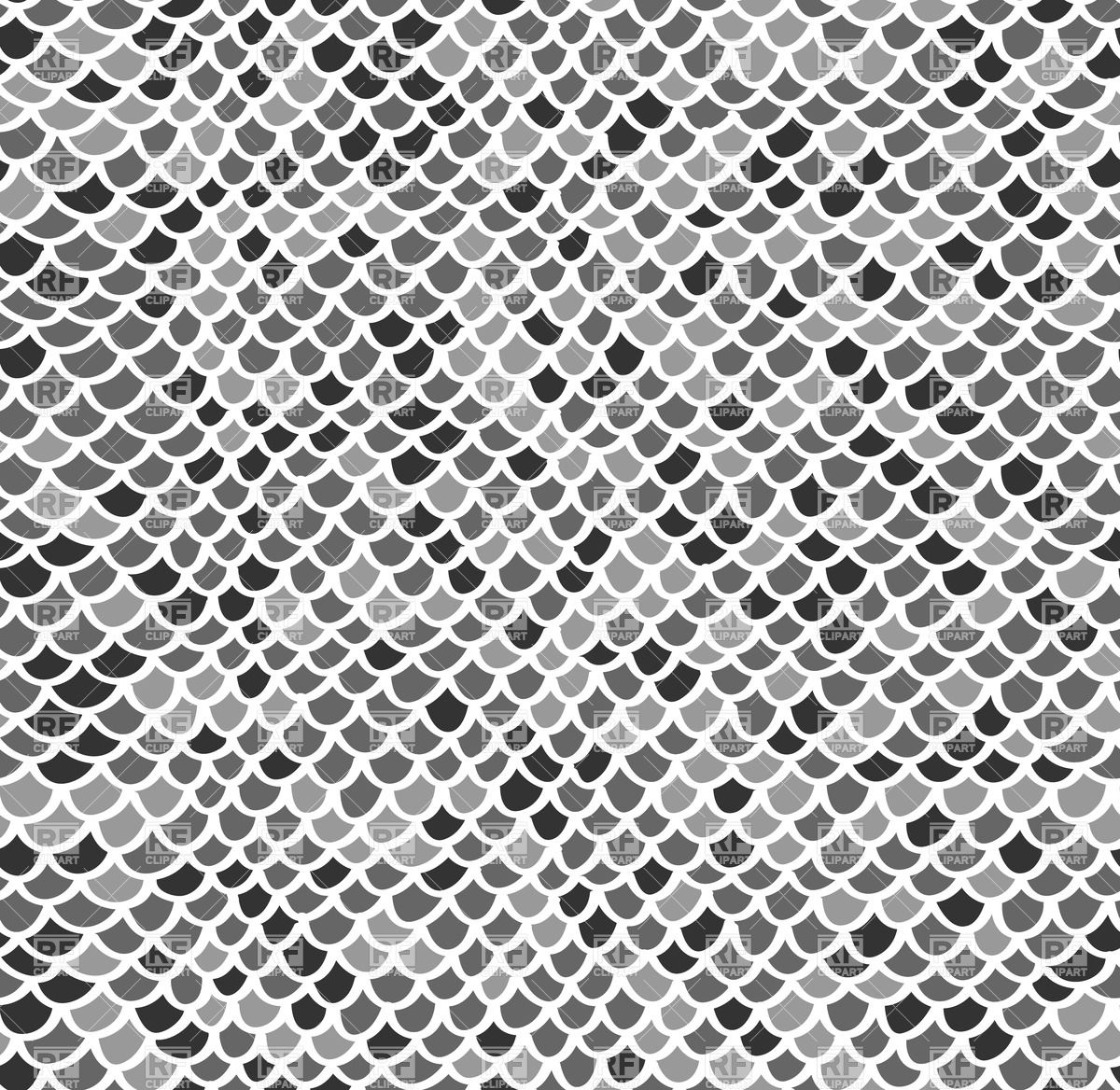 1200x1168 Scale Seamless Mosaic Pattern In Gray Colors Vector Image Vector