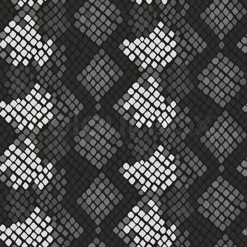 800x800 Snake Skin Seamless Vector Texture. Gray Tone Colors Snake Pattern