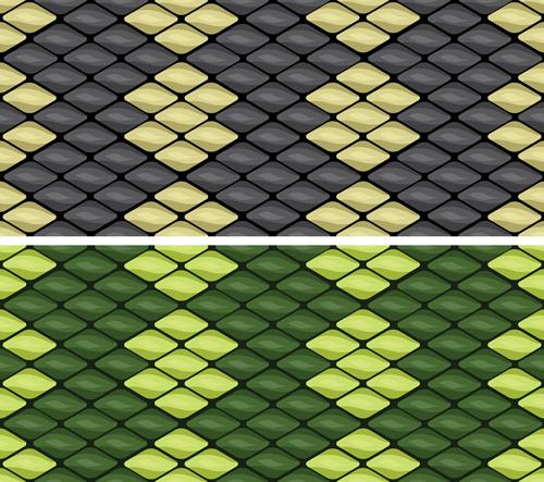 500x443 Vector Set Of Snake Skin Pattern Elements 04 Free Download