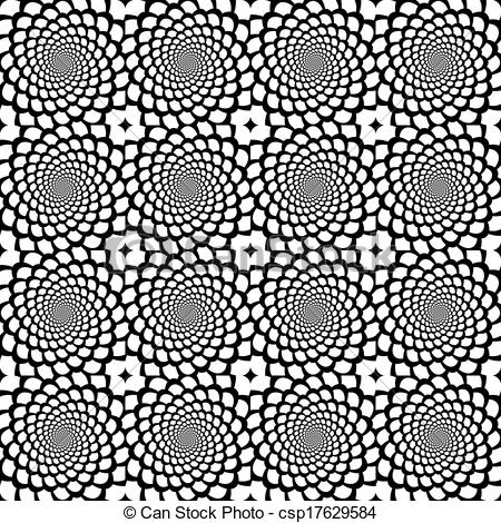 450x470 Design Seamless Monochrome Spiral Movement Snakeskin... Vector