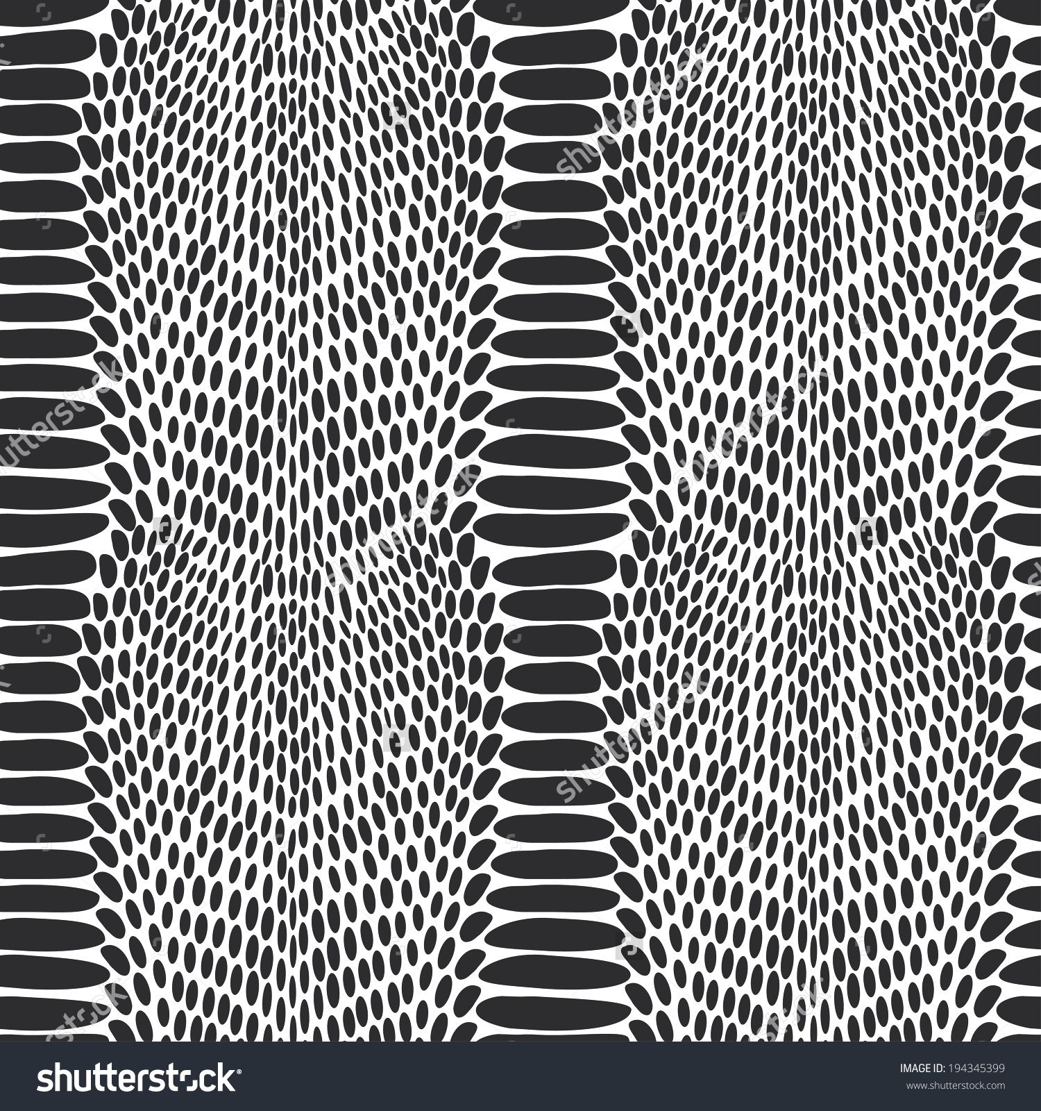 1500x1600 Stock Vector Snake Skin Texture Seamless Pattern Black On White
