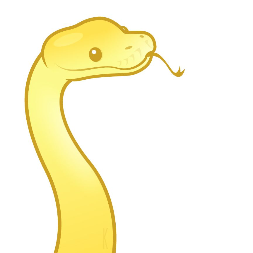 864x864 Yellow Snek! By Karianne Hutchinson Illustration Vector Art