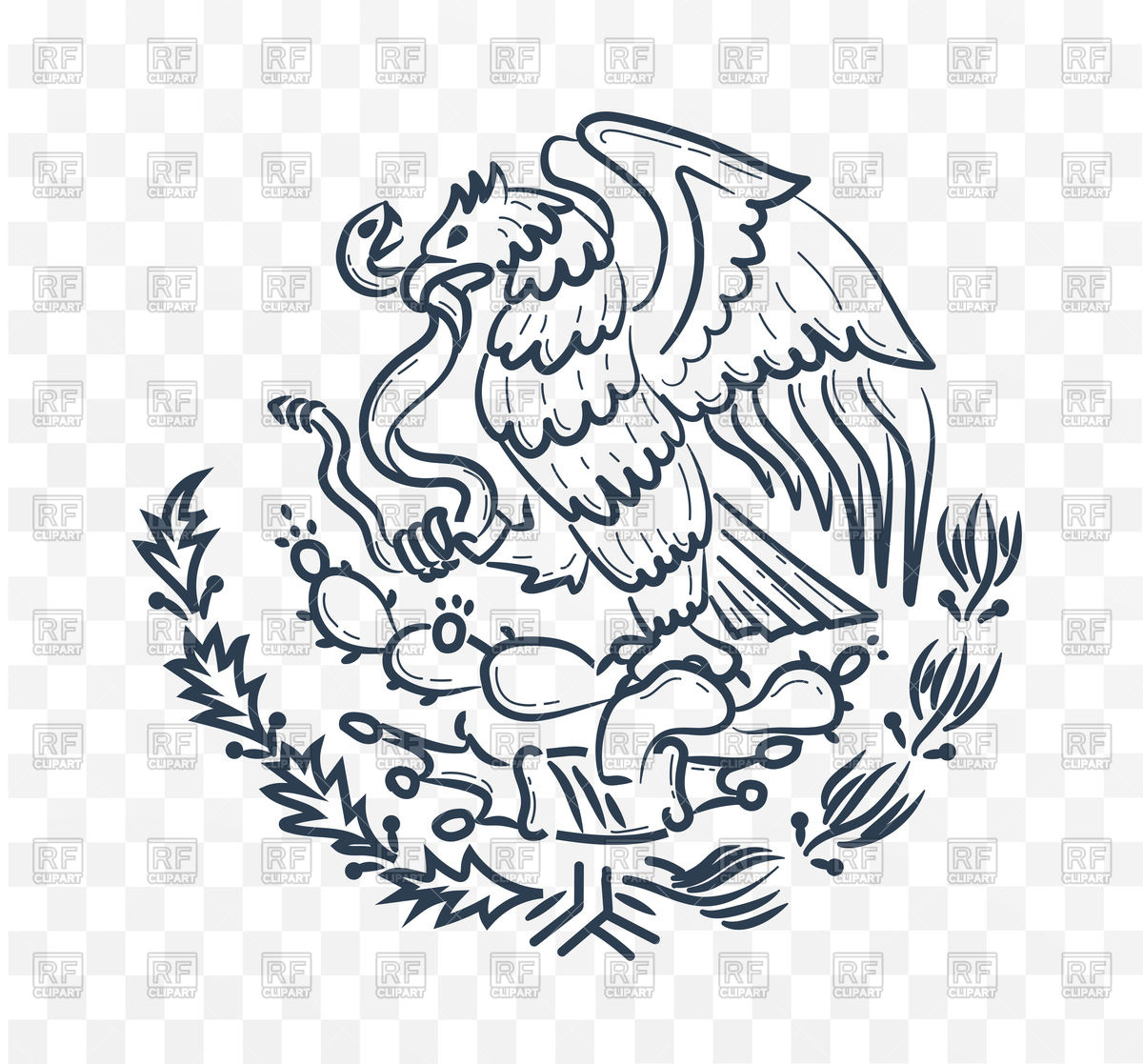 1200x1117 Mexico Coat Of Arms, Eagle And Snake Vector Image Vector Artwork