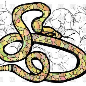 300x300 Photostock Vector Animal Snake Art Theme Vector Art Illustration
