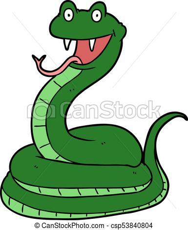 385x470 Cartoon Happy Snake Vector Clipart