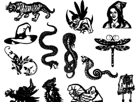 270x200 Free Snake Vector Graphics