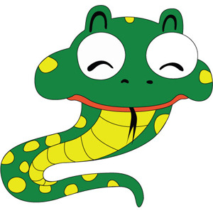 300x300 Free Vectors Snake Cartoon Character Free Vector. Vectorfantasy